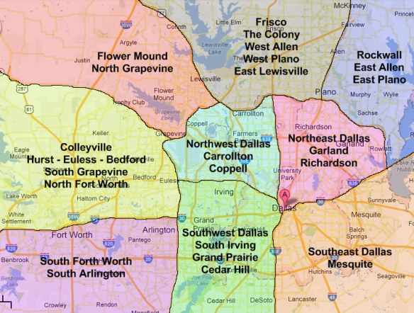 Map of Dallas neighborhoods