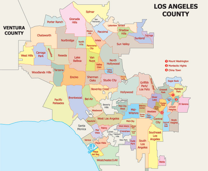 Map of Los Angeles neighborhoods
