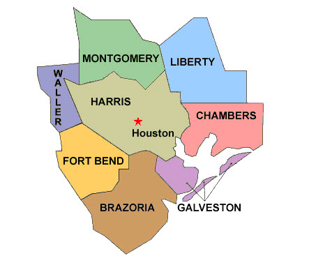 Houston County Maps Indiana Map - Counties of texas map