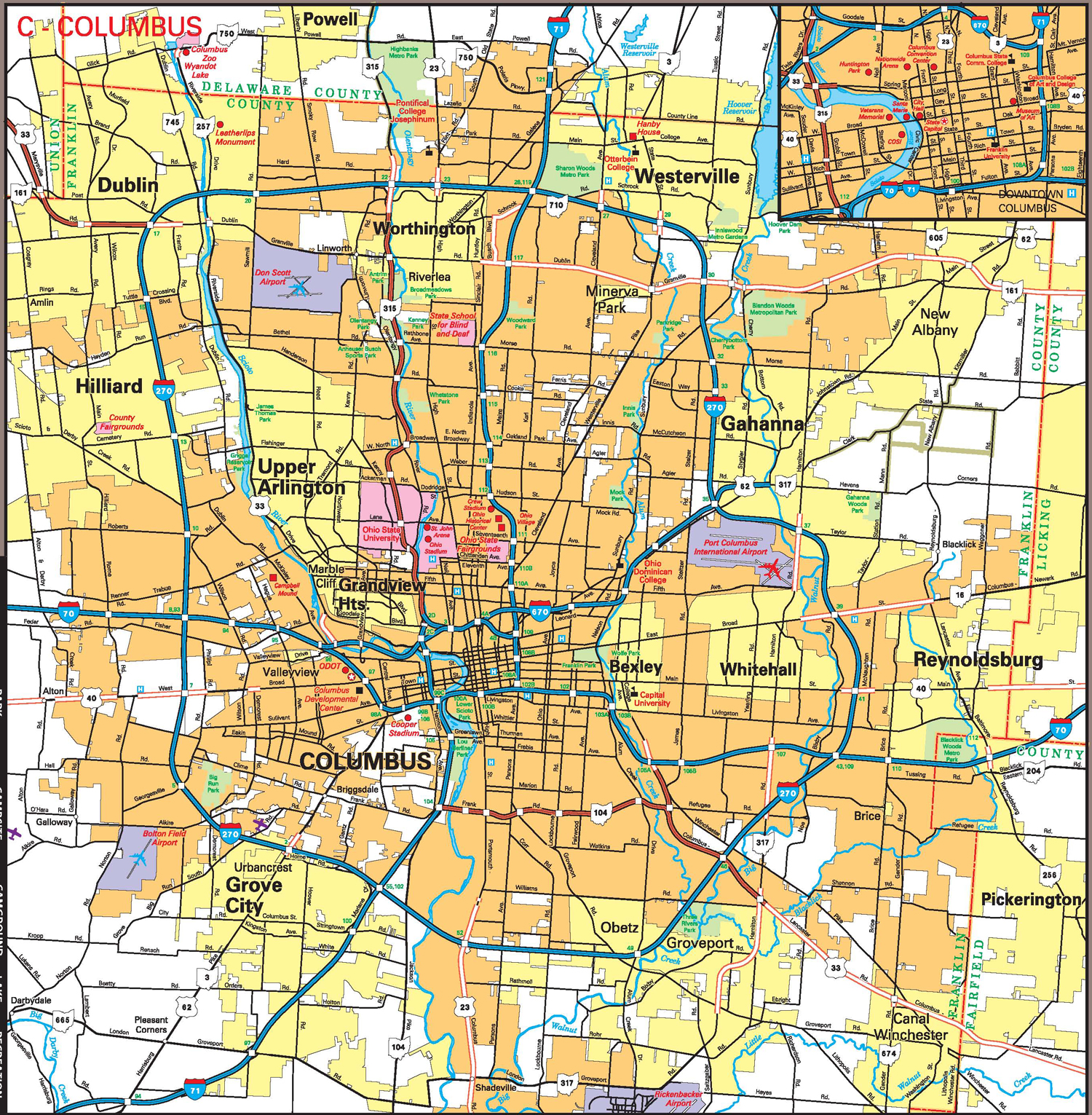 Columbus-county-map