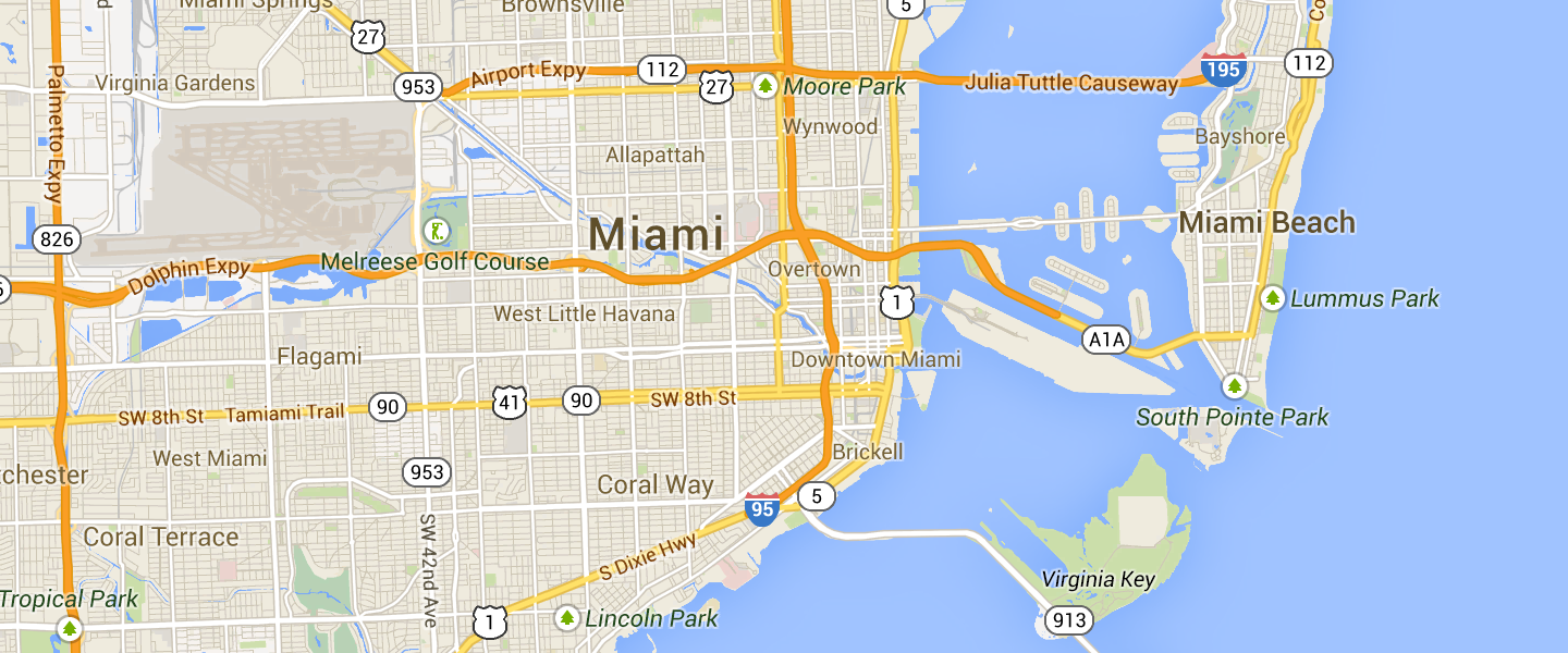Map of Miami market