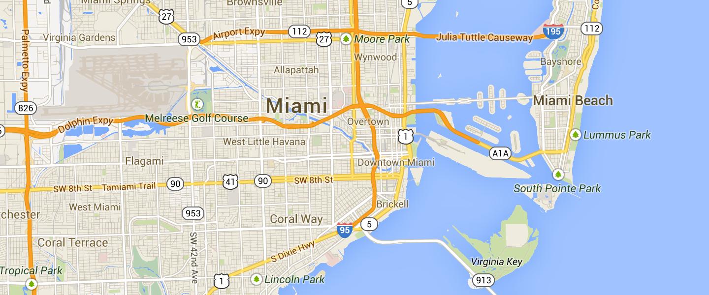 Map of Miami market