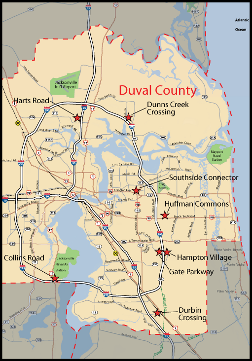 Map of Jacksonville neighborhoods