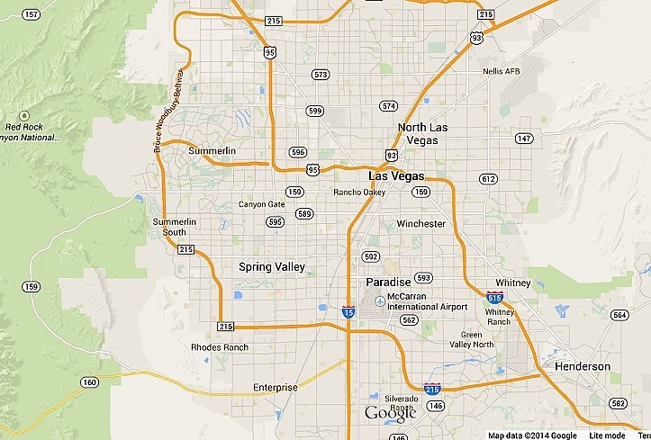 Las Vegas Nevada real estate map