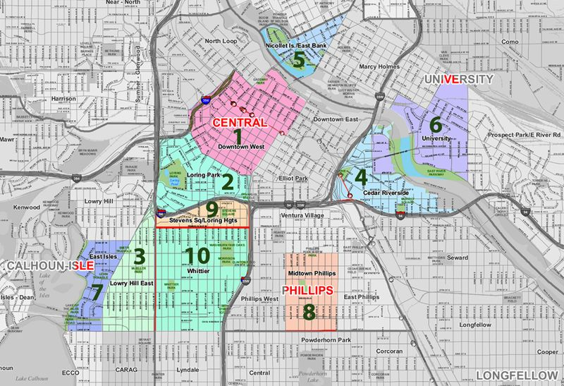 Map of minneapolis neighborhoods