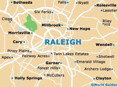 Map of Raleigh neighborhoods
