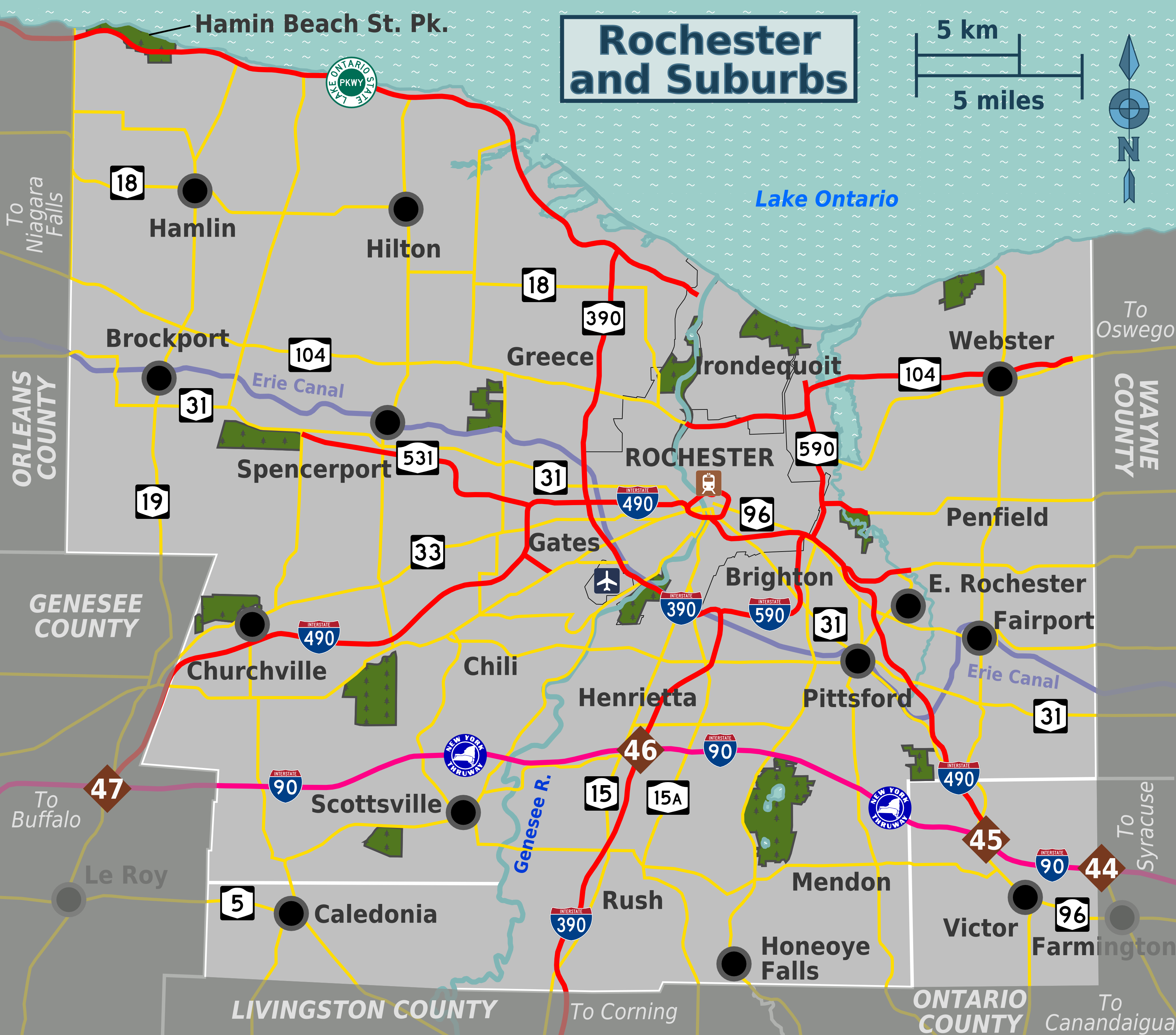 Map of Rochester neighborhoods