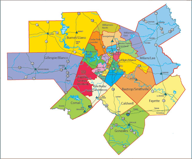 Map of Austin neighborhoods