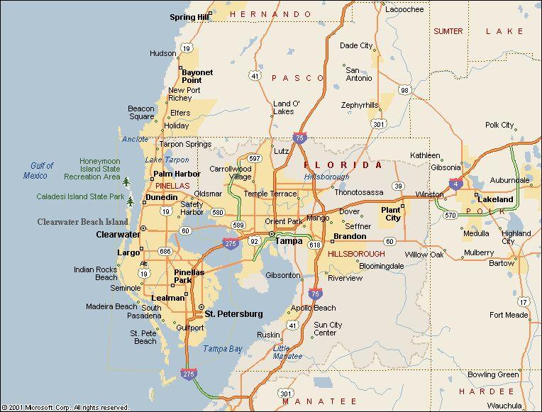 Map of Tampa neighborhoods