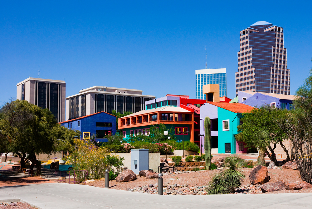 Buildings in downtown Tucson, AZ.