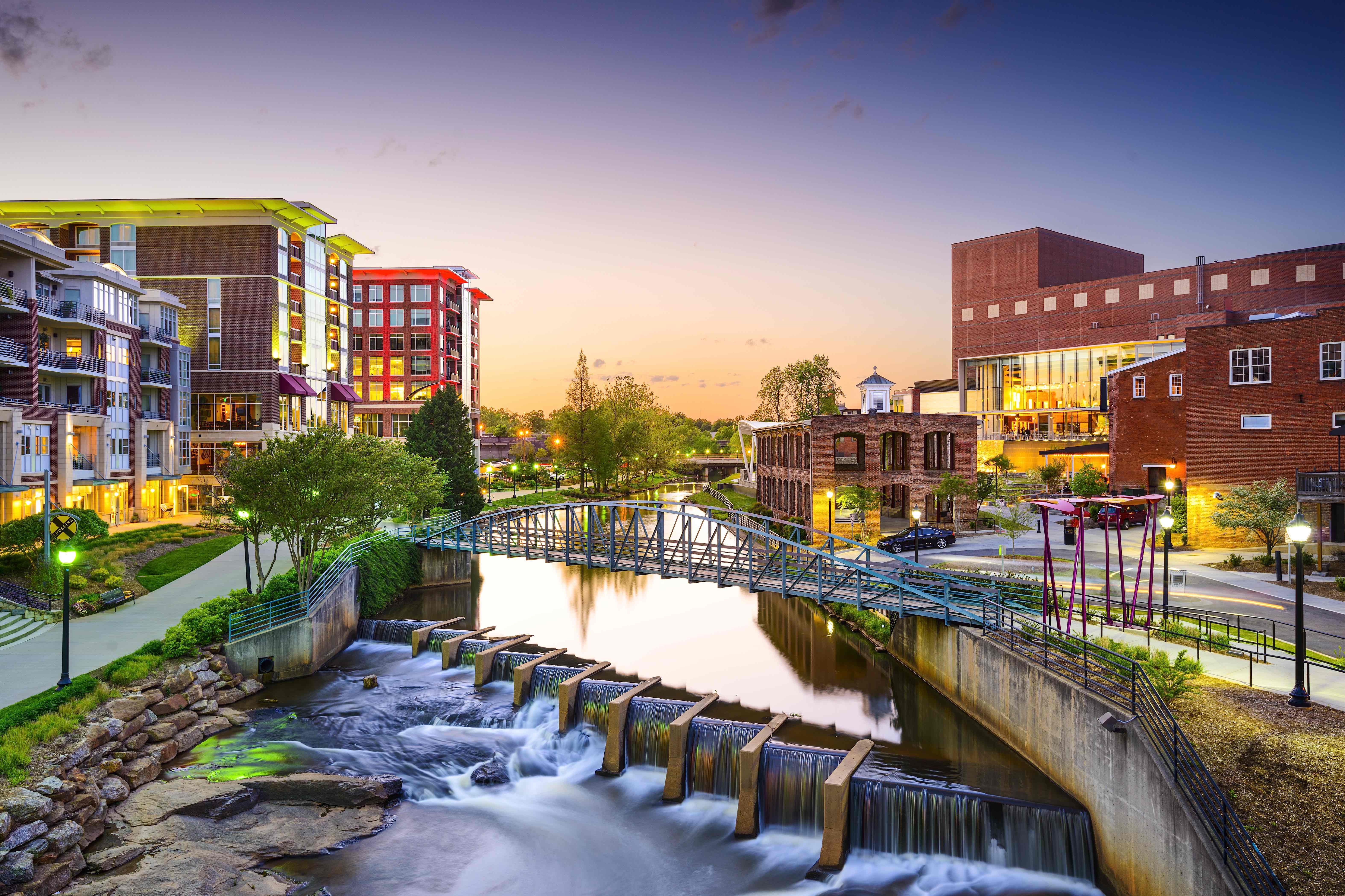 View of downtown Greenville, South Carolina