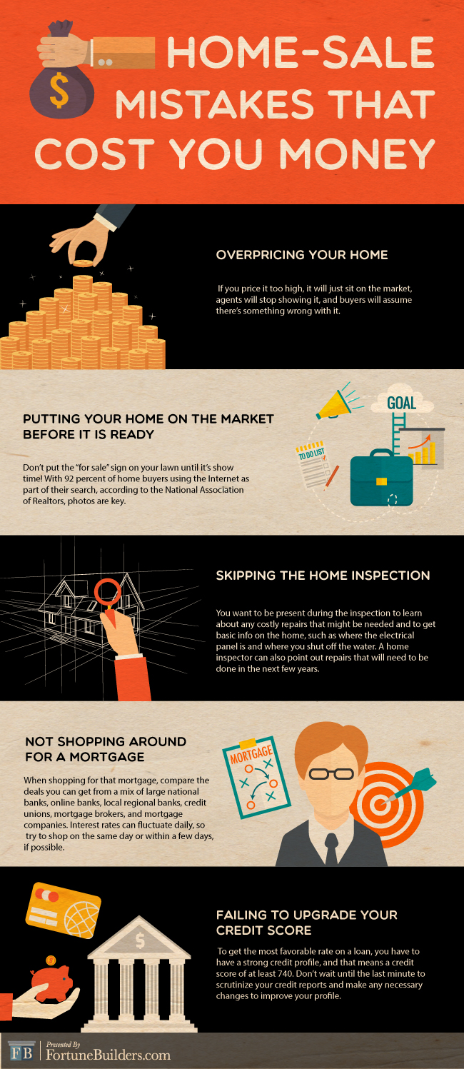 House selling mistakes graphic