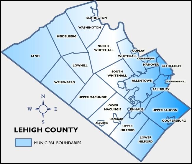 Map of Allentown neighborhoods