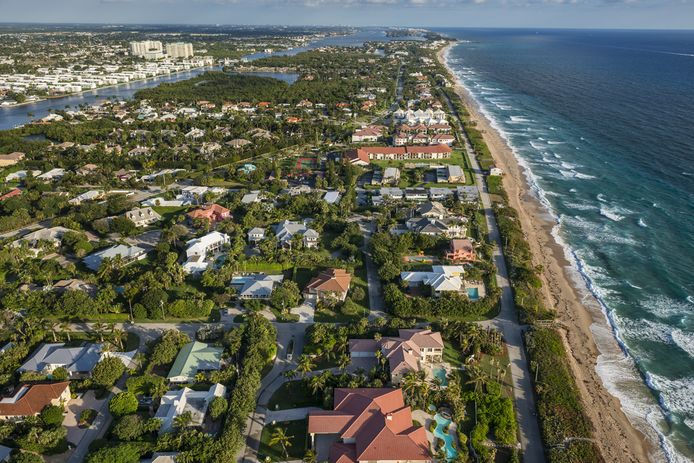 View of Florida homes
