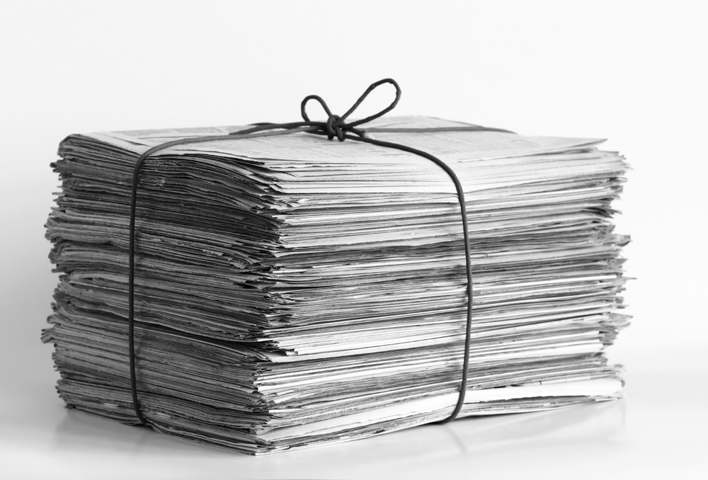 Stack of news papers