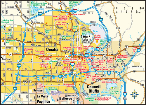 Map of Omaha neighborhoods