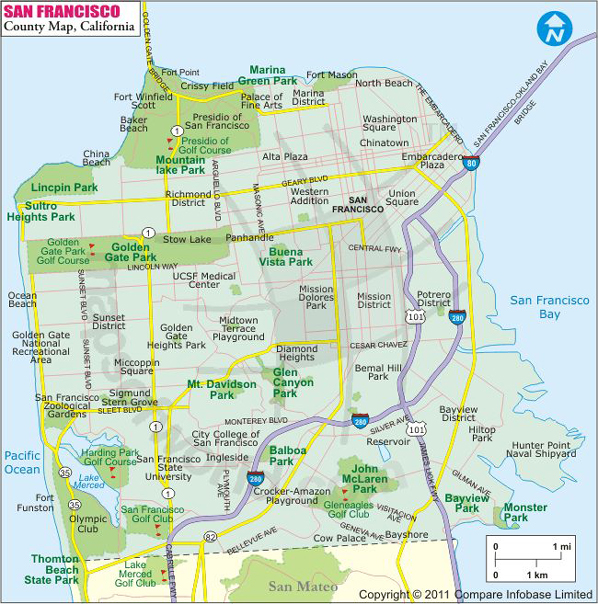 Map of San Francisco neighborhoods