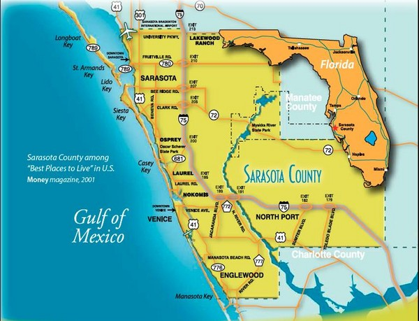 Map of Sarasota neighborhoods