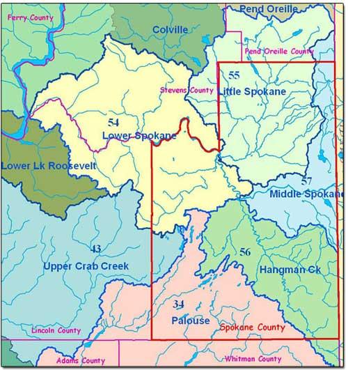 Map of Spokane neighborhoods