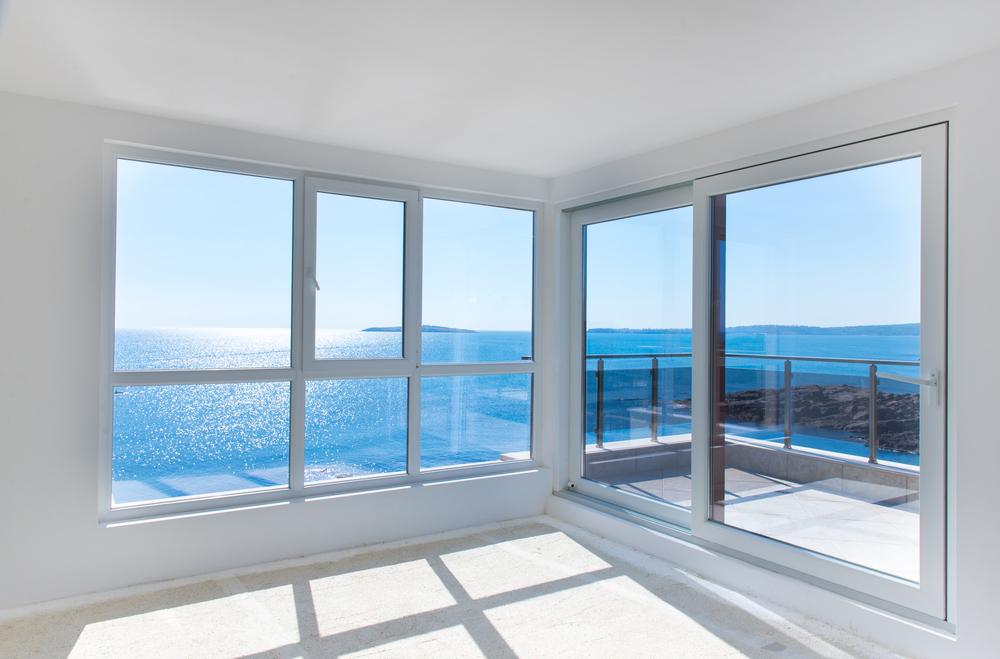 Windows looking over the ocean
