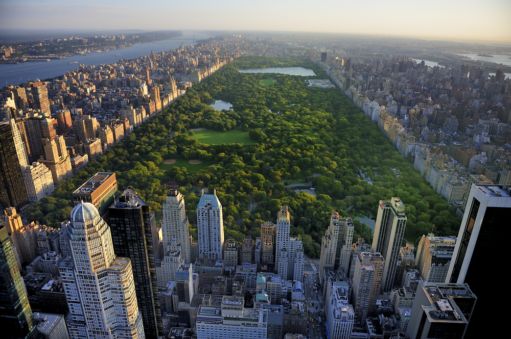 Skyline of New York with Central Park
