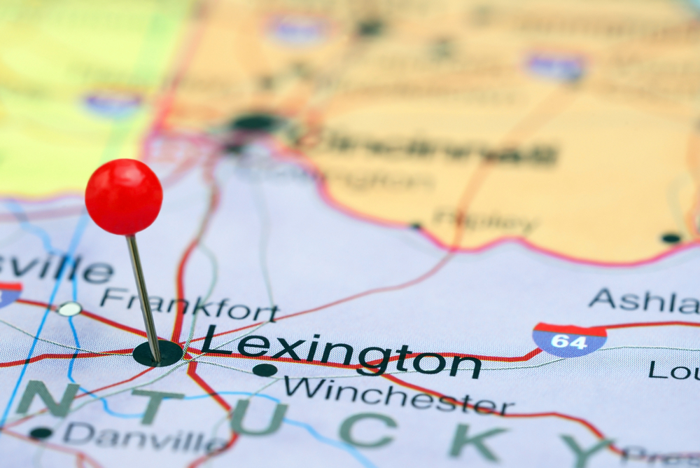 Map of Lexington
