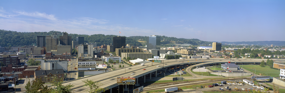 Panoramic view of Charleston, WV.