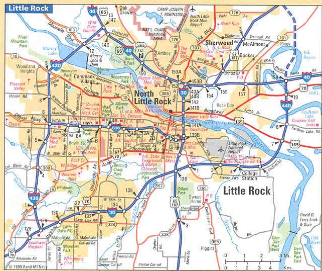 Map of Little Rock housing market