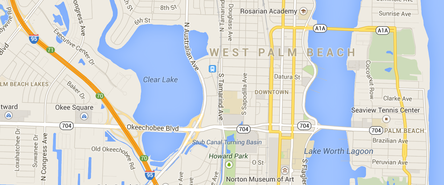 Map of West Palm Beach neighborhoods