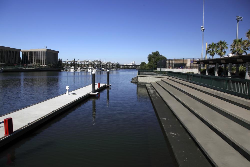 City waterfront of Stockton, California