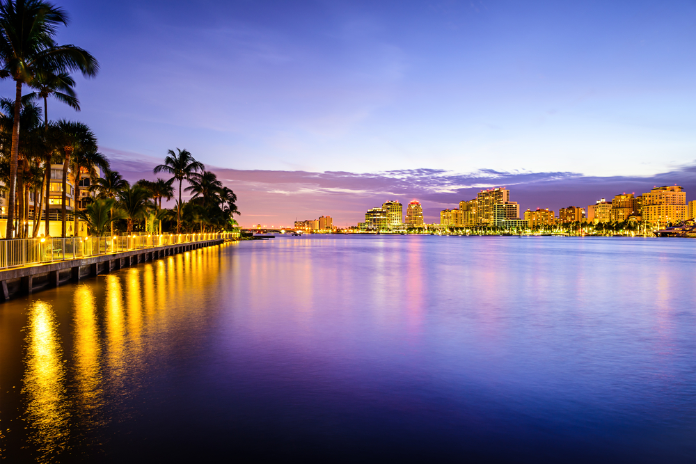 West Palm Beach waterfront.