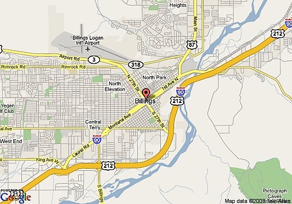 Map of Billings neighborhoods