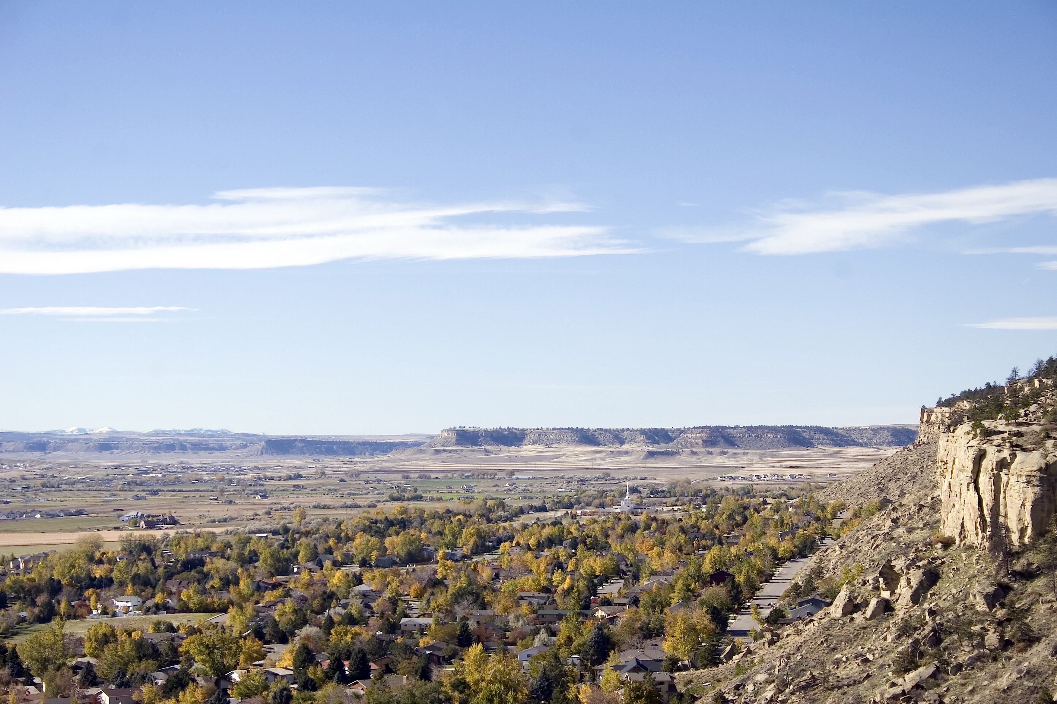 View of Billings from mountain.