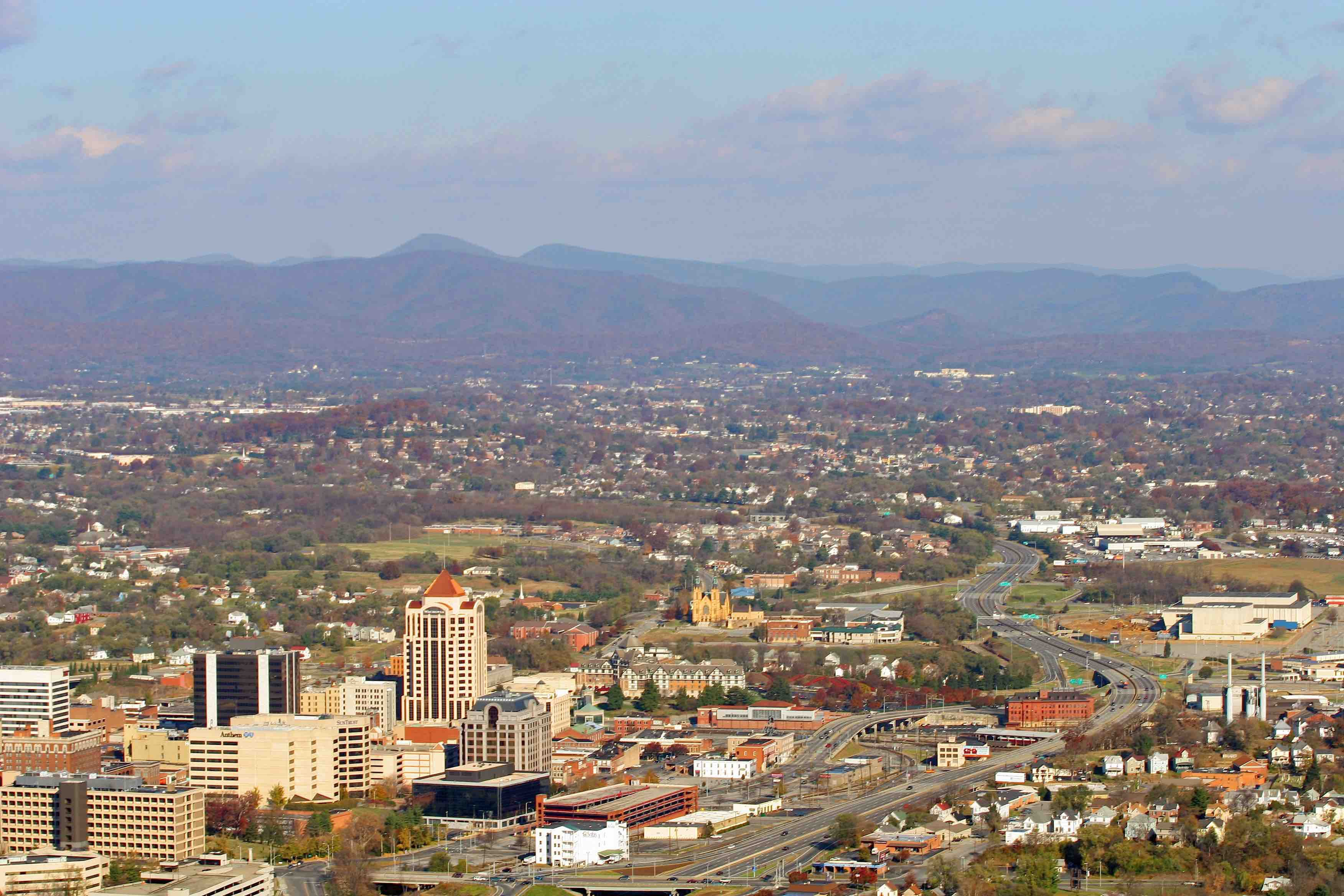 The city of Roanoke, VA