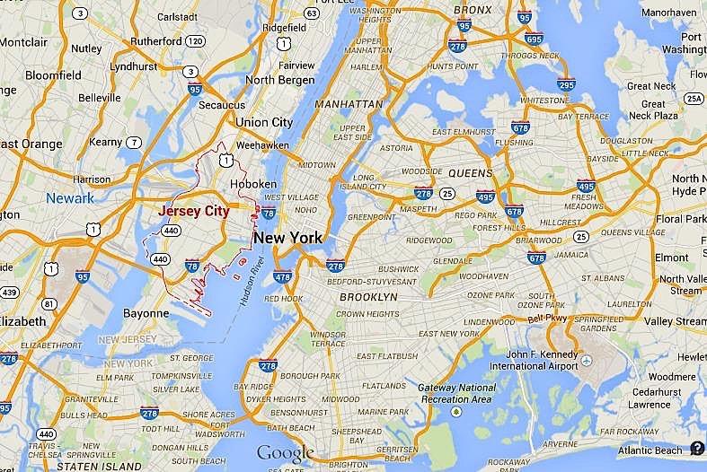 Map of Jersey City neighborhoods