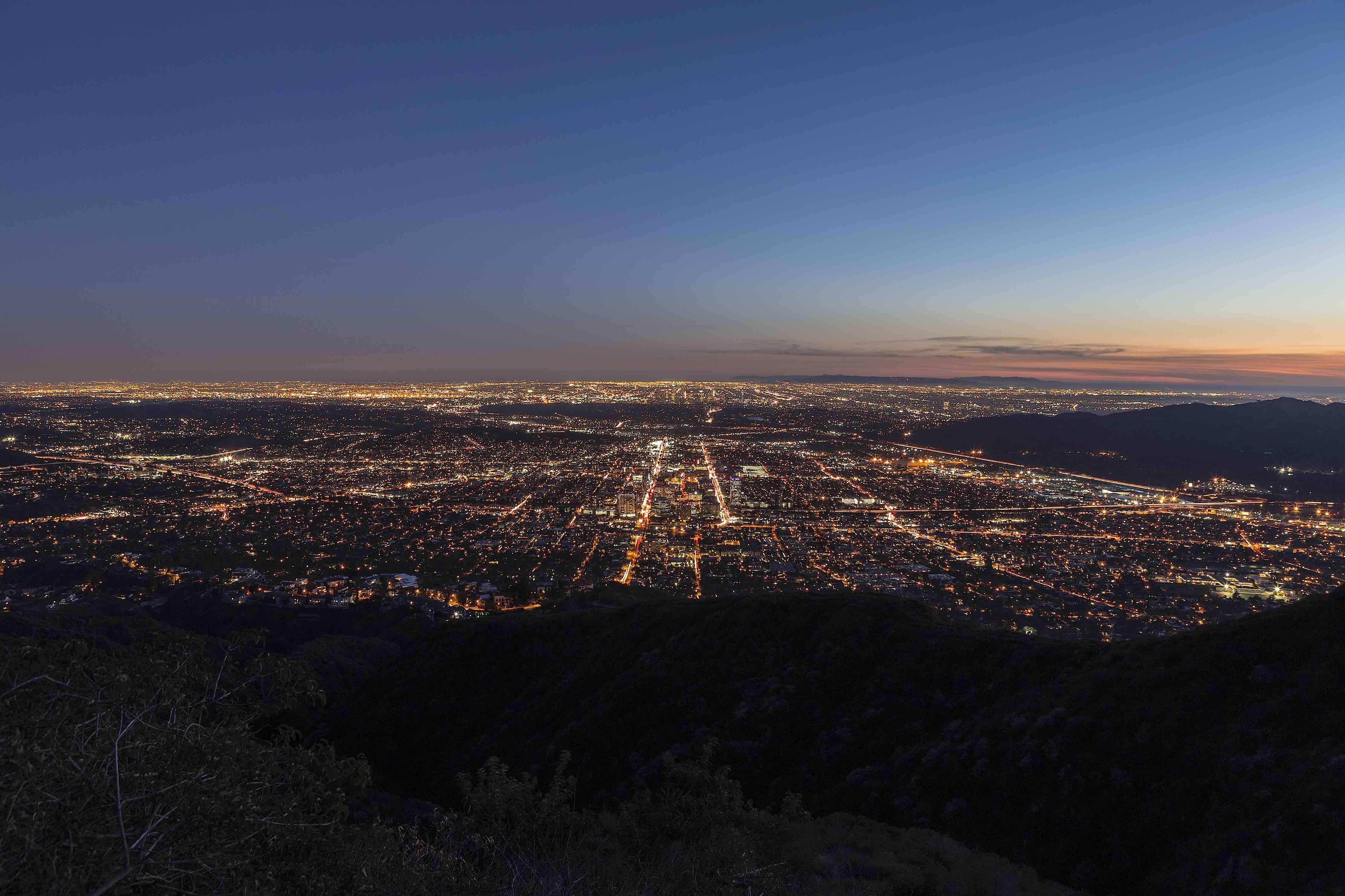 Glendale housing at night