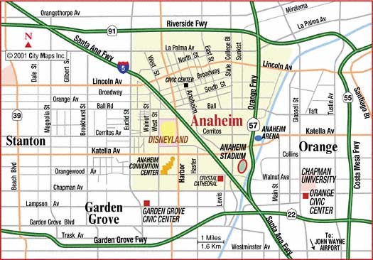 Map of Anaheim neighborhoods