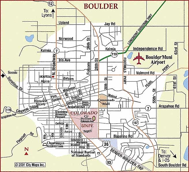 Map of Boulder, CO neighborhoods