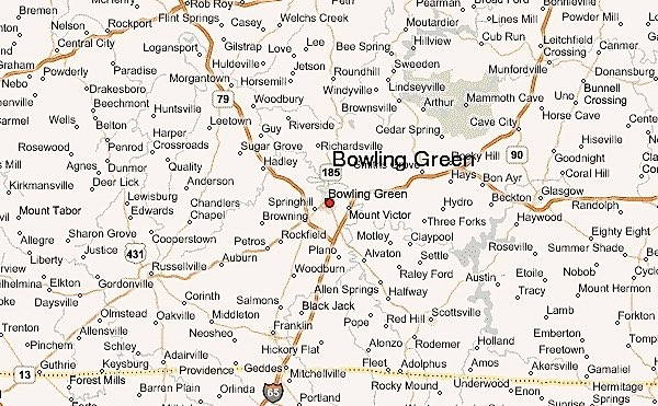 Map of Bowling Green neighborhoods