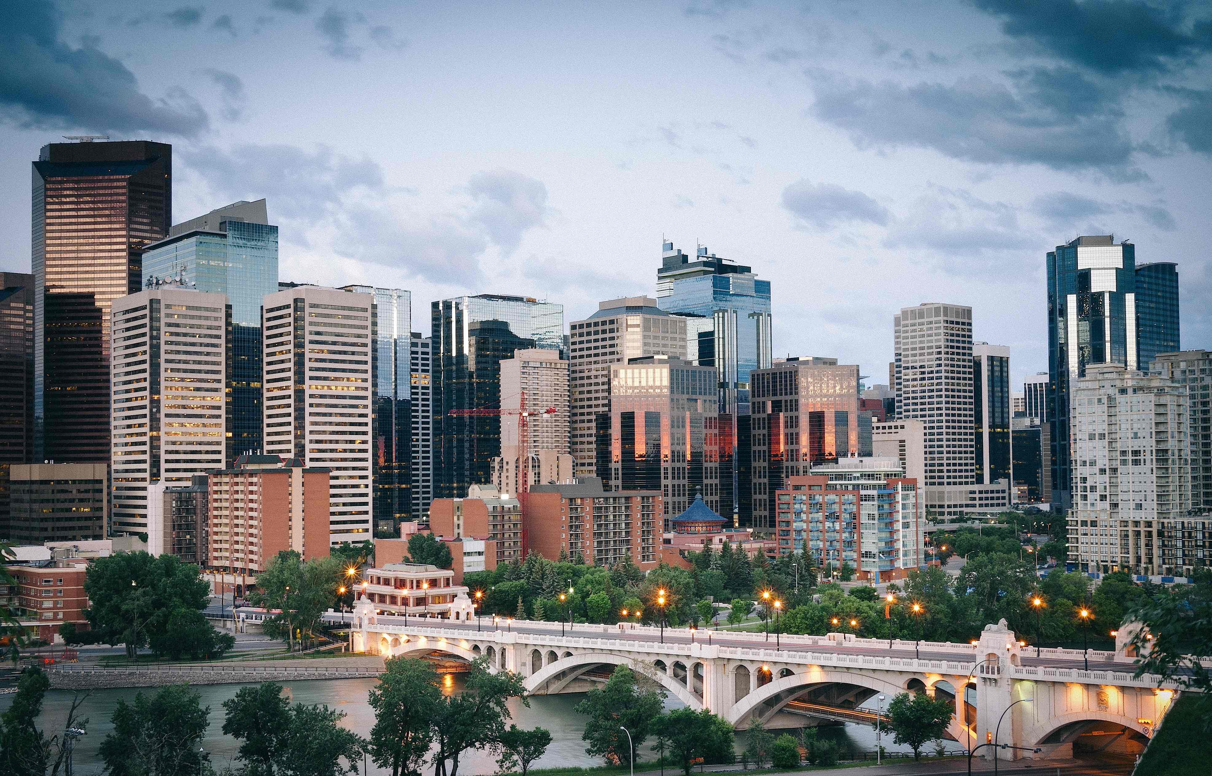 Downtown view of Calgary