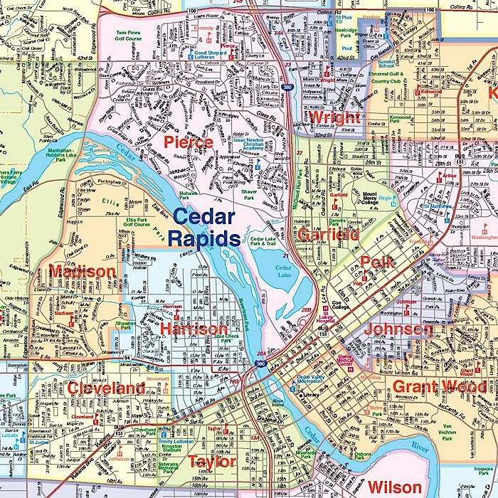 Map of Cedar Rapids neighborhoods
