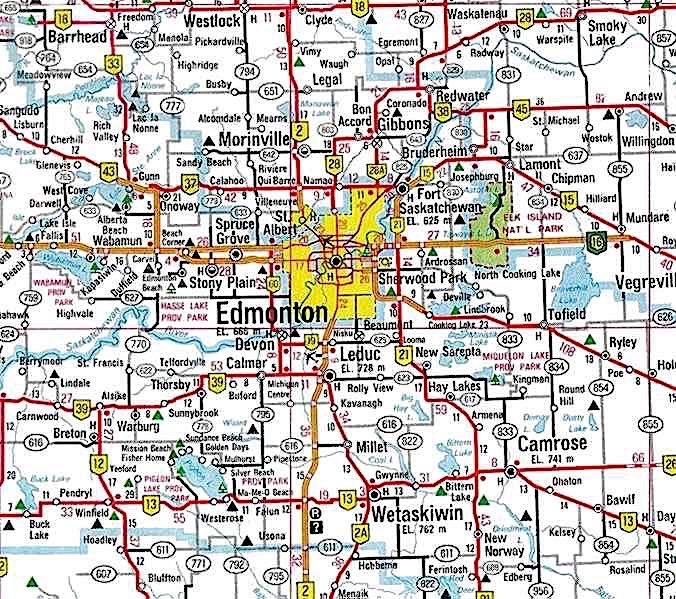 Map of Edmonton Neighborhoods