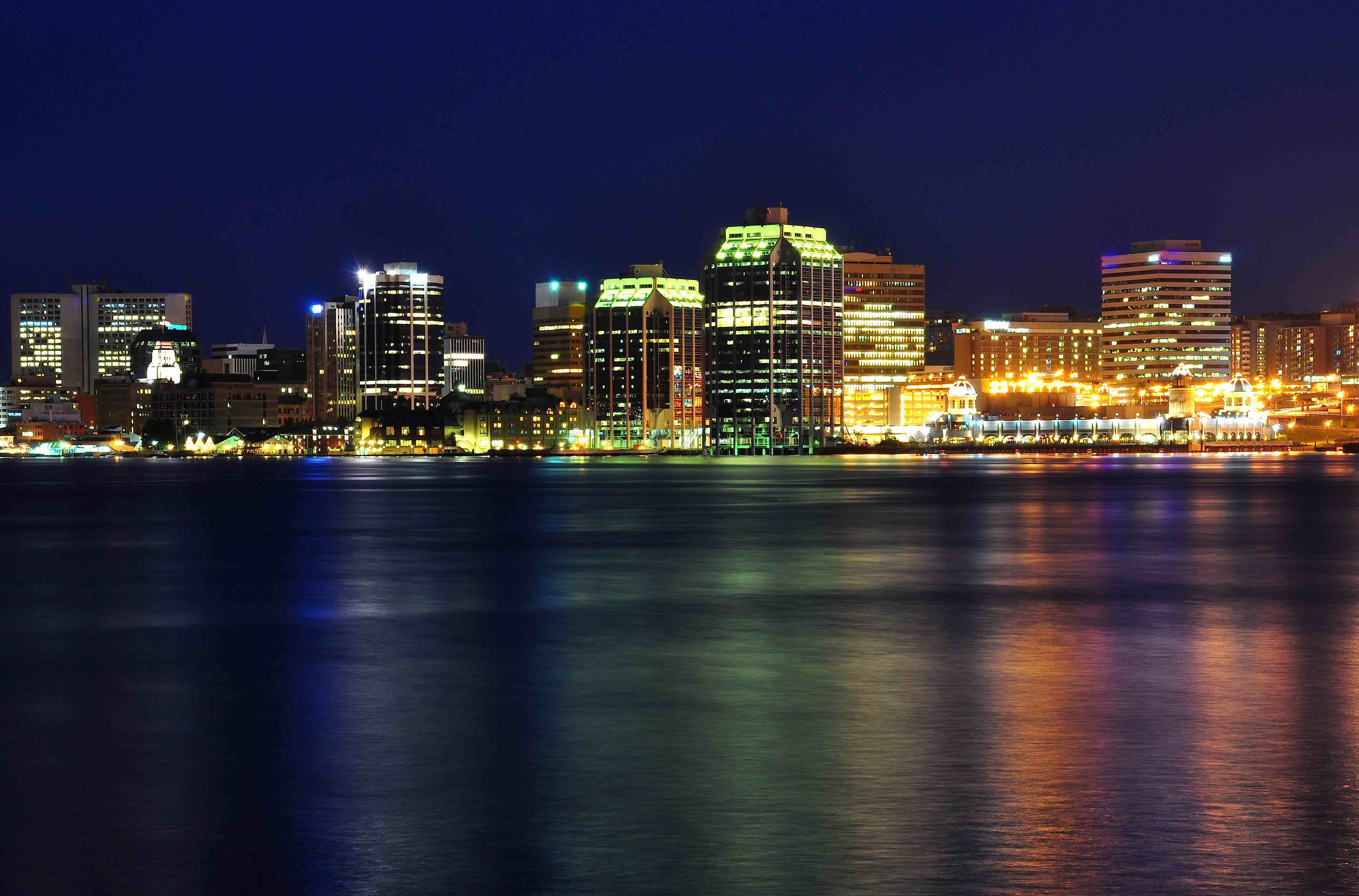 Halifax at night