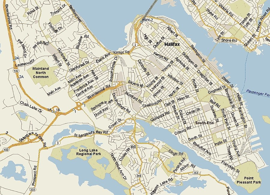 Map of Halifax neighborhoods