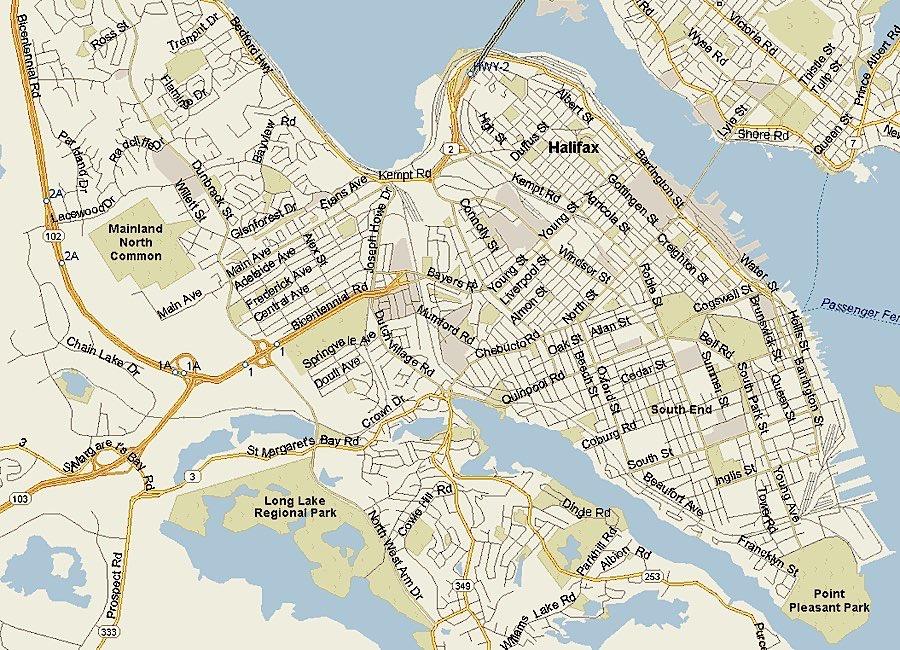 Map of Halifax neighborhoods