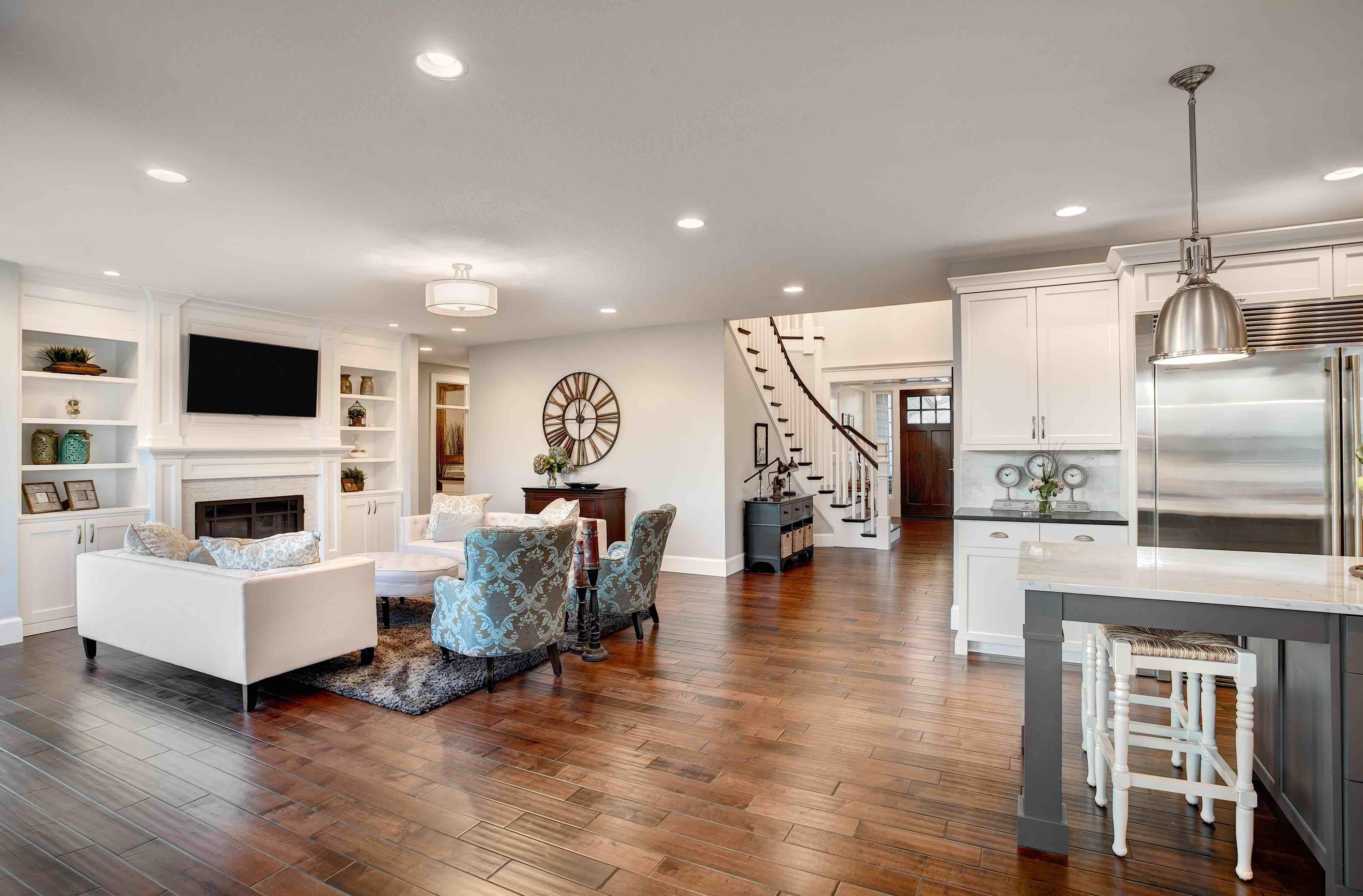 Hardwood flooring in home