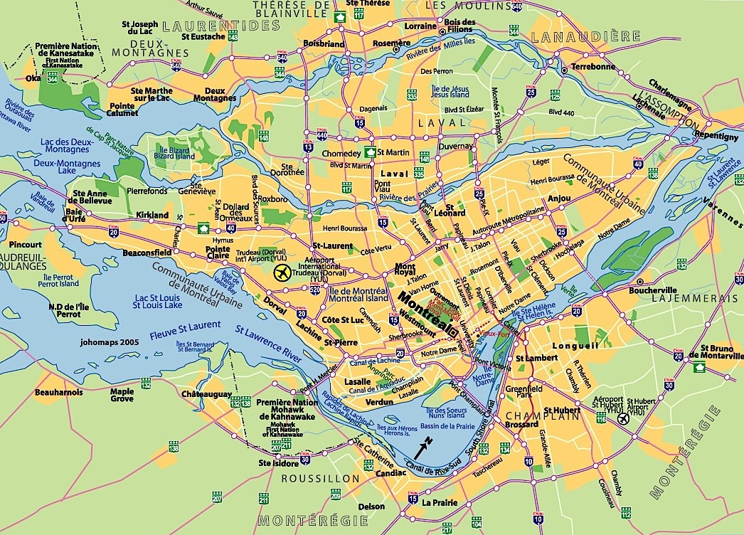 Map of Montreal neighborhoods