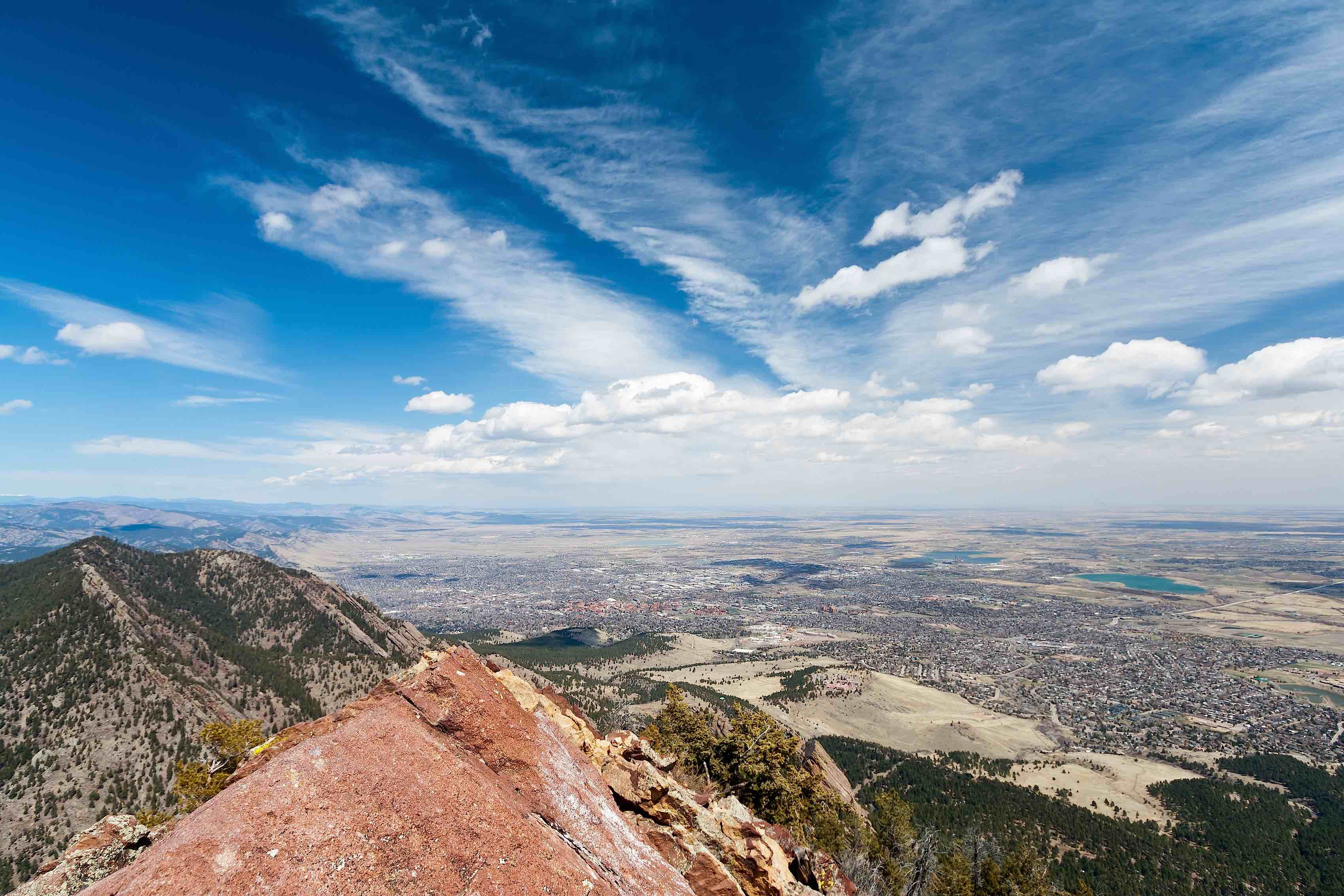 Viw of Boulder, CO from mountain top