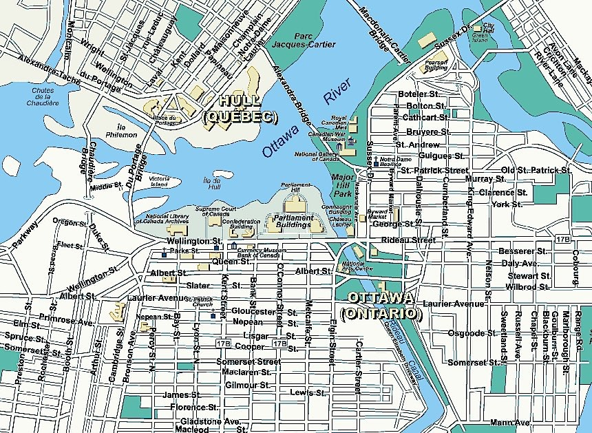 Map of Ottawa neighborhoods