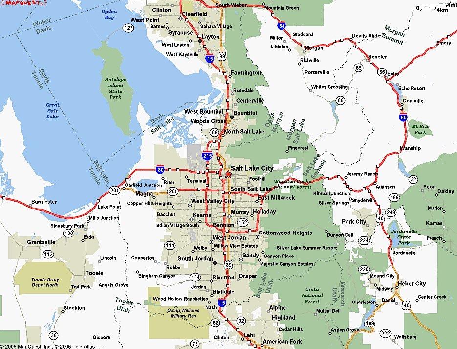 Map of Salt Lake City neighborhoods